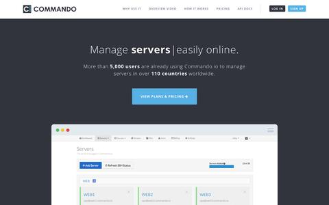 Commando.io - A distributed web based SSH platform for managing servers