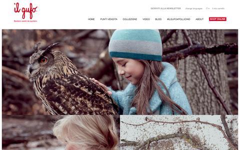Screenshot of Home Page ilgufo.it - Il Gufo: Abbigliamento per Bambini - captured Aug. 2, 2015