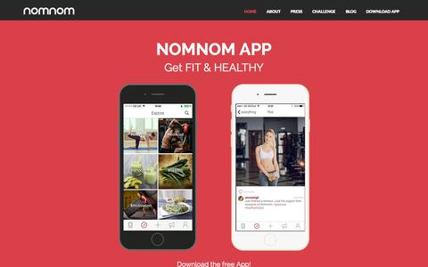 Screenshot of Home Page nomnomapp.com - Nomnom App - Download For Free - captured Nov. 22, 2015