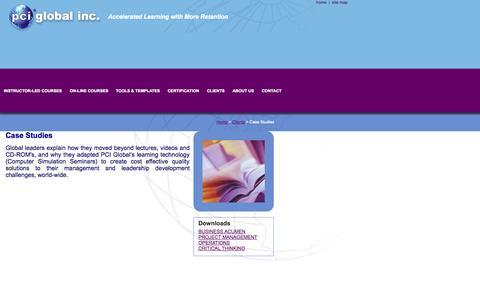 Screenshot of Case Studies Page pciglobal.com - Case Studies - PCI Global - captured Oct. 1, 2014