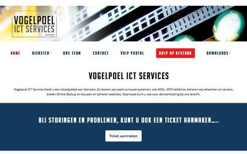 Screenshot of Home Page vogelpoel.nl - Vogelpoel – ICT Services - captured Jan. 29, 2017