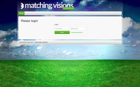 Screenshot of Login Page matchingvisions.com - Matching Visions - Publisher page - captured Oct. 3, 2017