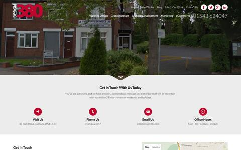 Screenshot of Contact Page design380.com - Design 380 - captured Jan. 7, 2016