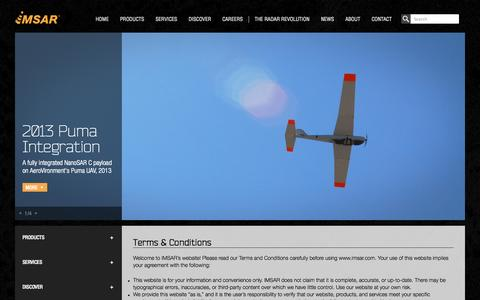 Screenshot of Terms Page imsar.com - Terms & Conditions | IMSAR - captured Oct. 4, 2014