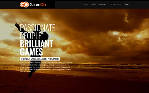 Screenshot of Home Page gameonfund.nl - GameOn - captured July 12, 2014
