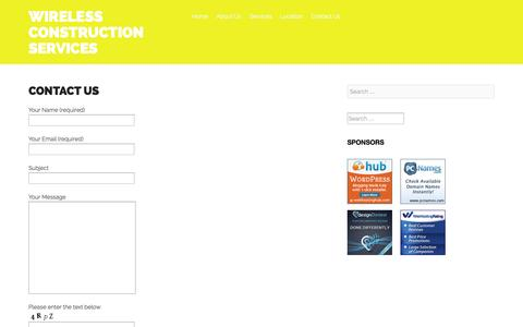 Screenshot of Contact Page wcschicago.com - Contact Us - Wireless Construction Services - captured Oct. 7, 2014