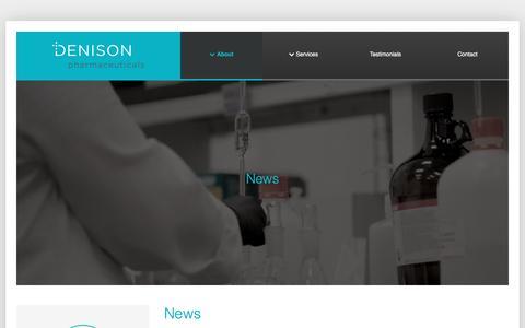 Screenshot of Press Page dpharm.net - News » Denison Pharmaceuticals - captured Nov. 24, 2016