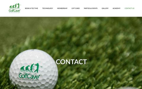 Screenshot of Contact Page golf-cave.com - Contact Us I Locations in Clark & Eatontown NJ I GolfCave - captured July 20, 2018