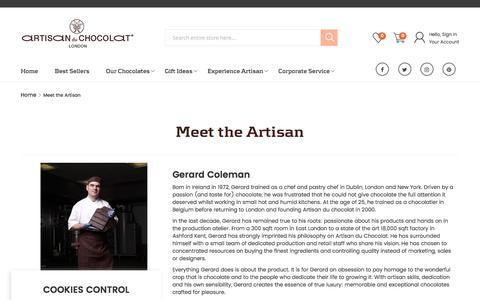 Screenshot of About Page artisanduchocolat.com - Meet the Artisan - captured May 30, 2017
