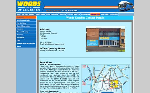 Screenshot of Maps & Directions Page woodscoaches.com - Woods Coaches For Coach Hire, Day Trips & Holidays - Contact Us - captured Oct. 7, 2014
