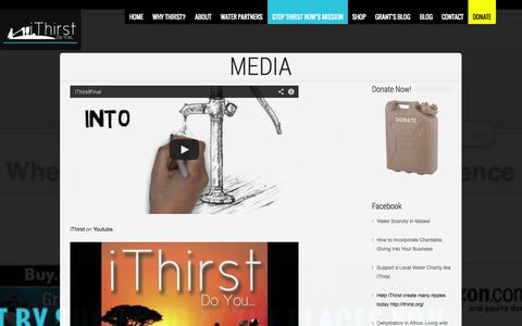Screenshot of Press Page ithirst.org - Media - iThirstiThirst   Your Kansas City Water Charity Helping Around the World. - captured Sept. 30, 2014