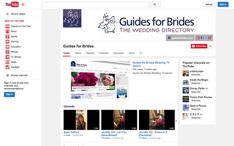 Screenshot of YouTube Page youtube.com - Guides for Brides  - YouTube - captured Oct. 23, 2014