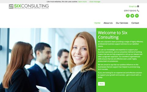 Screenshot of Home Page six-consulting.co.uk - Effective business consultant services from Six Consulting | Six Consulting Ltd - captured Oct. 21, 2017