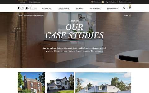 Screenshot of Case Studies Page cphart.co.uk - Case Studies - captured Dec. 6, 2015
