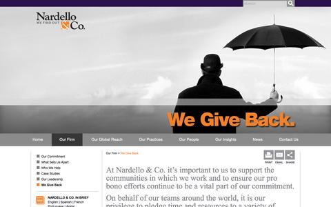 We Give Back - Nardello & Co.