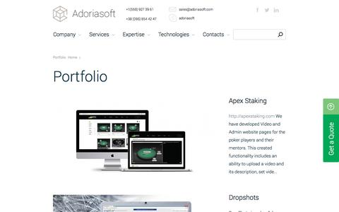Custom Software Development Projects | Adoriasoft