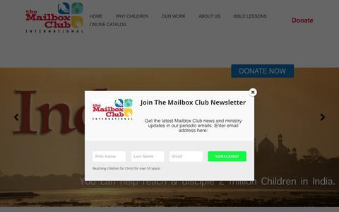 Screenshot of Home Page mailboxclub.org - Homepage   The Mailbox Club - captured Nov. 10, 2017