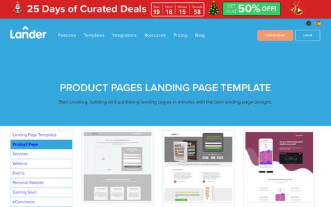 Screenshot of Products Page landerapp.com - Landing Page Template for Product Pages | LanderApp - captured Dec. 5, 2018