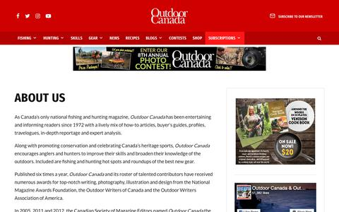 Screenshot of About Page outdoorcanada.ca - About Us • Outdoor Canada - captured Dec. 21, 2018