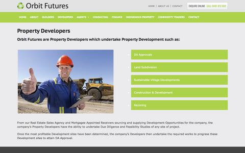 Screenshot of Developers Page orbitfutures.com.au - Property Developers | Orbit Futures - captured Feb. 5, 2018