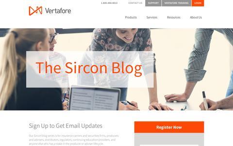 Screenshot of Landing Page vertafore.com - Vertafore - Subscribe to the Sircon blog - captured Oct. 4, 2016