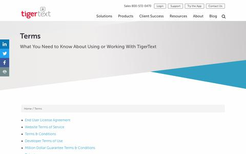 Terms | Terms of Use, Privacy Policies, Conditions | TigerText