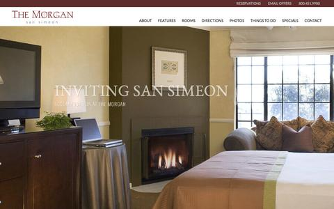 Screenshot of Home Page hotel-morgan.com - San Simeon Hotels | The Morgan | Hotels in San Simeon - captured Feb. 15, 2016