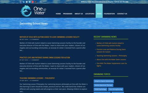 Screenshot of Press Page onewiththewater.org - One with the Water®  Swimming School News » One with the Water® - captured Oct. 26, 2014