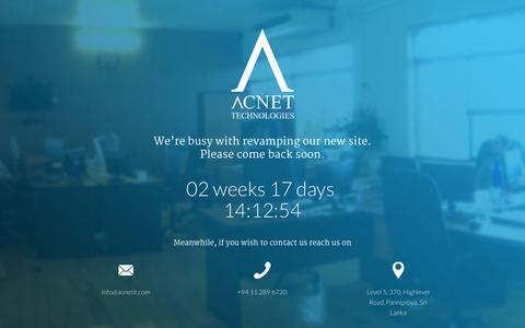 Screenshot of Home Page acnetit.com - ACNET Technology | Sri Lanka - captured Oct. 4, 2014