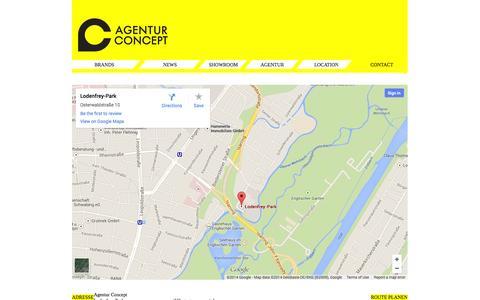 Screenshot of Contact Page agenturconcept.de - Agentur Concept - Contact - captured Sept. 30, 2014