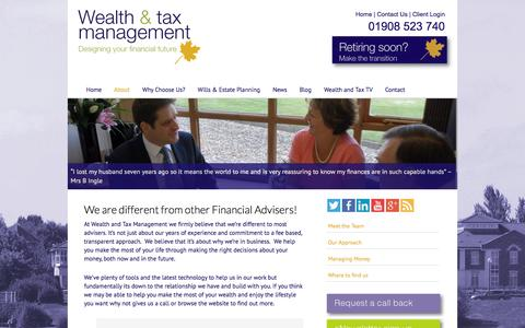 Screenshot of About Page wealthandtax.co.uk - About - Wealth and Tax Management - captured Oct. 1, 2014