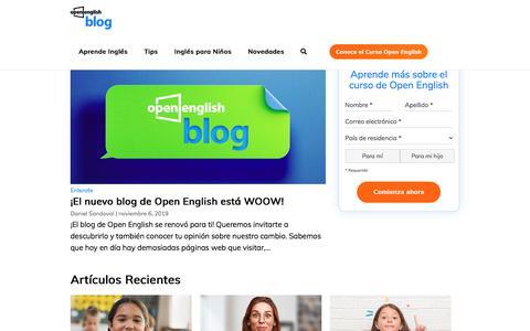 Screenshot of Blog openenglish.com - Homepage New Blog - Open English | Open English - captured Nov. 10, 2019