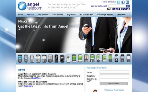 Screenshot of Press Page angel-telecom.co.uk - News - captured Sept. 30, 2014