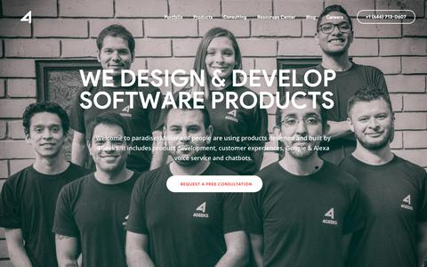 Screenshot of Home Page 4geeks.io - Software Product Development & Consulting Company — 4Geeks - captured April 2, 2019