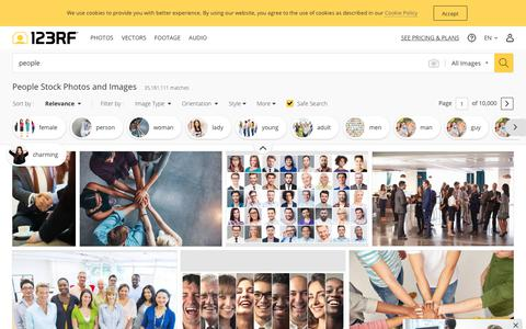 Screenshot of Team Page 123rf.com - People Stock Photos And Images - 123RF - captured Sept. 2, 2019