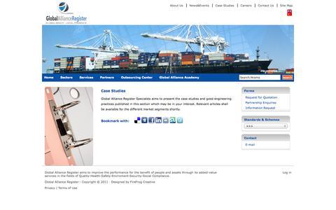 Screenshot of Case Studies Page globalallianceregister.com - Case Studies : Global Alliance Register - captured Sept. 26, 2014