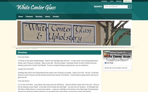 Screenshot of Maps & Directions Page whitecenterglass.com - Directions - captured Oct. 20, 2018
