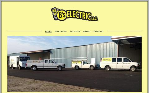 Screenshot of Home Page bselectricllc.com - B's Electric L.L.C. - captured July 17, 2018