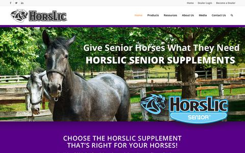 Screenshot of Home Page horslic.com - Home | HorsLic® - captured Sept. 2, 2017