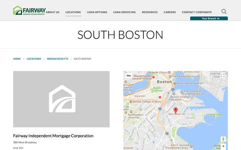 South Boston | Fairway Independent Mortgage Corporation