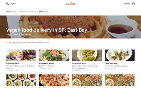 Vegan food delivery in SF: East Bay | Caviar