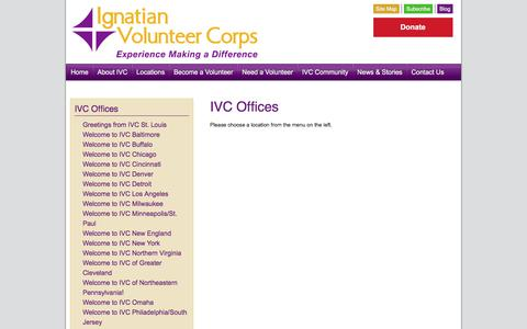Screenshot of Locations Page ivcusa.org - IVC Offices – Ignatian Volunteer Corps - captured Oct. 14, 2017