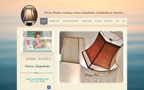 Screenshot of Home Page maineshades.com - Maine Shades, handmade, custom, lampshades, made in America - captured July 5, 2016