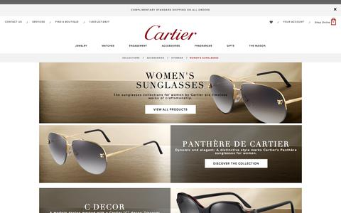 Women's sunglasses, rimless, golden finish - Cartier