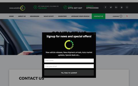 Screenshot of Contact Page autodirect.lk - Contact us   autodirect.lk - captured June 30, 2017