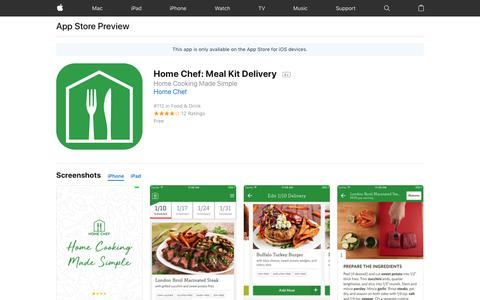 Home Chef: Meal Kit Delivery on the AppStore