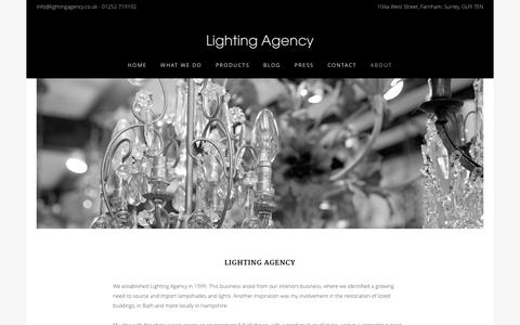 Screenshot of About Page lightingagency.co.uk - About - Lighting Agency - captured Dec. 9, 2015