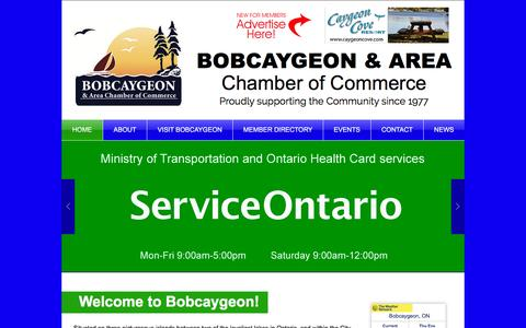 Screenshot of Home Page bobcaygeon.org - Bobcaygeon Chamber of Commerce - captured June 23, 2016