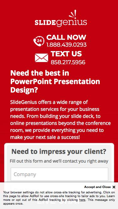 PowerPoint Presentation Design Custom Made To Fit Your Needs