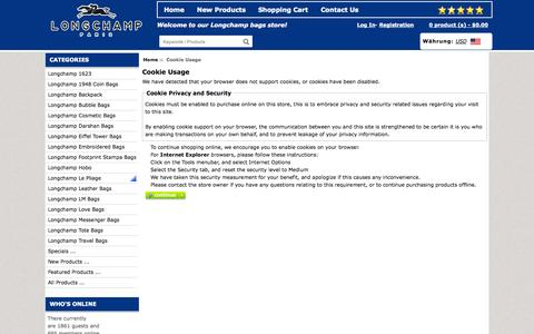 Screenshot of Login Page docdynamix.co.uk - Cookie Usage : Order cheap Longchamp UK outlet online sale, Longchamp UK Online - captured Oct. 5, 2014
